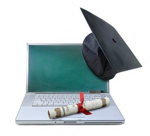 Laptop with academic hood